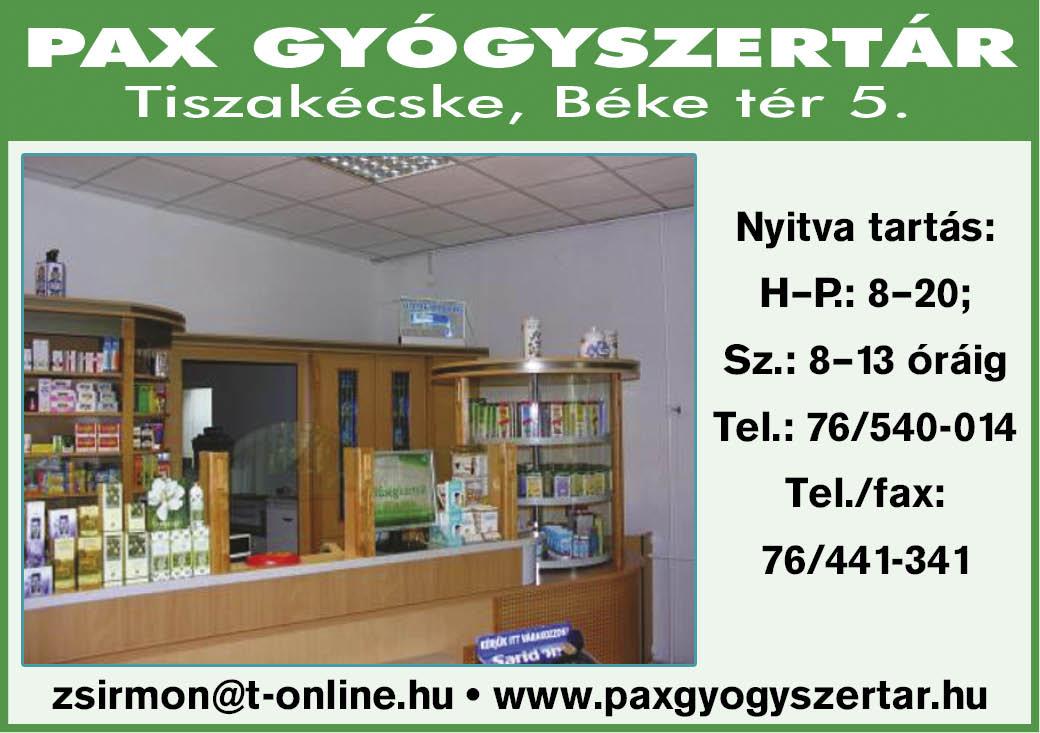 PAX Gyógyszertár