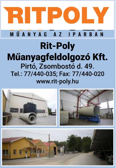 Rit-Poly Műanyagfeldolgozó Kft.