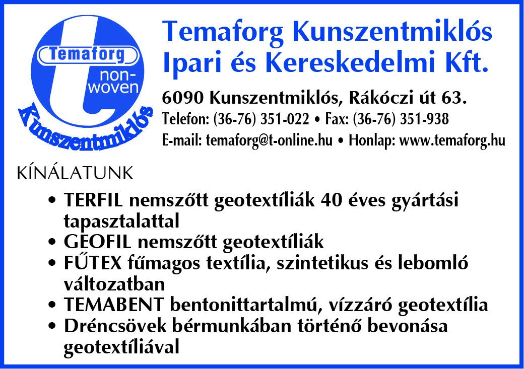 Temaforg Kunszentmiklós Ipari és Kereskedelmi Kft.