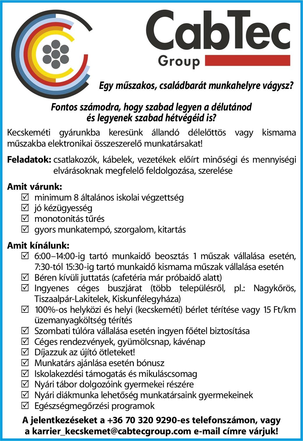 CabTec Group- Munkatársat keresünk!